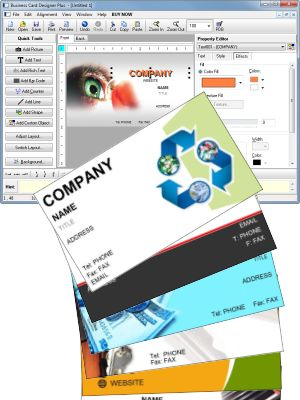 Business card designer plus great business card software business card software screenshot reheart Choice Image