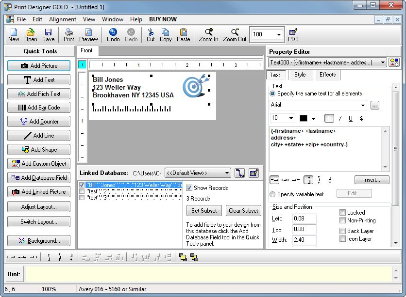 Click to view Print Designer GOLD 11.3.0.0 screenshot