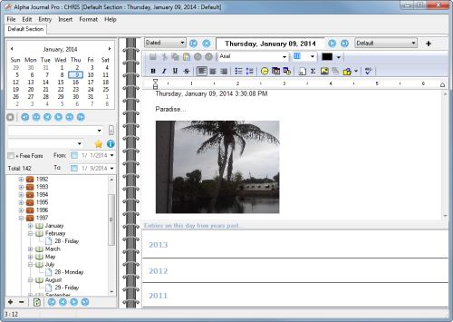 Calendar Diy Software : Alpha journal pro diary software