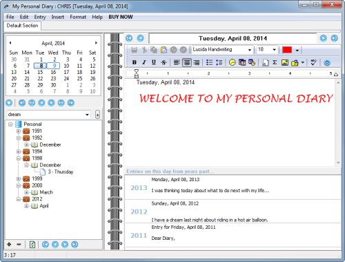 My Personal Diary - The Best Personal Diary Software