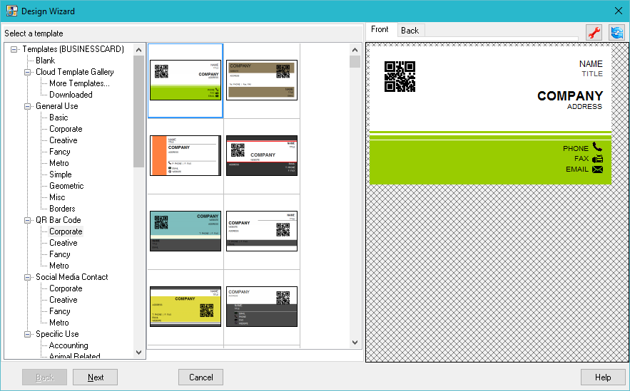 see how fast it is to create a business card with business card